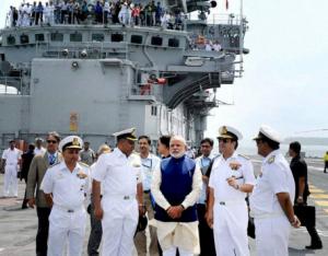 INS Vikramaditya-PM Modi