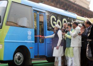 PM inaugurating Bus