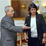 Mauritius Prez Gurib-Fakim meets President Pranab Mukherjee