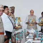 "Union Home Minister Rajnath Singh releases illustrative Book ""Ayodhya ke Shoorvir"""