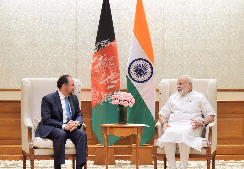 Afghanistan Foreign Minister Salahuddin Rabbani – Modi