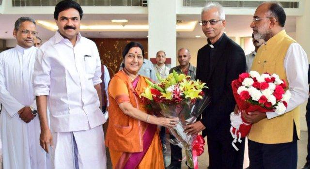 Catholic priest Tom Uzhunnalil-Sushma Swaraj