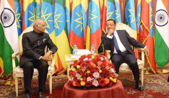 President Ram Nath Kovind -President of Ethiopia Mulatu Teshome