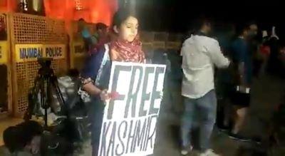 Free Kashmir Placard