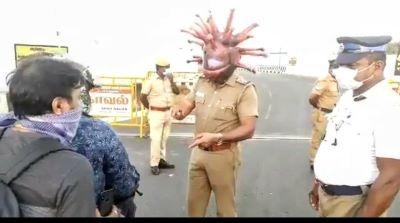 Chennai-Police COVID Helmet