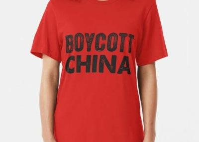 Boycott China T-Shirts Caps