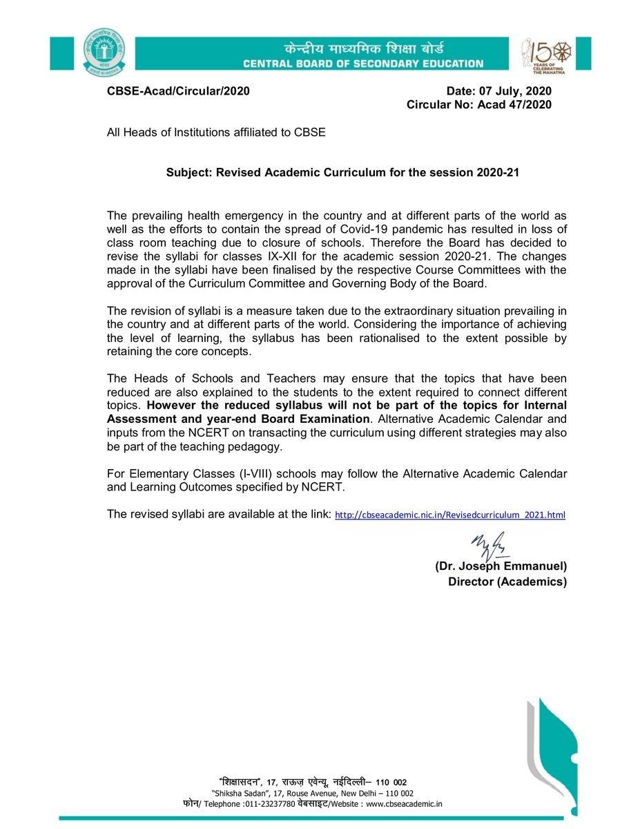 CBSE Statement