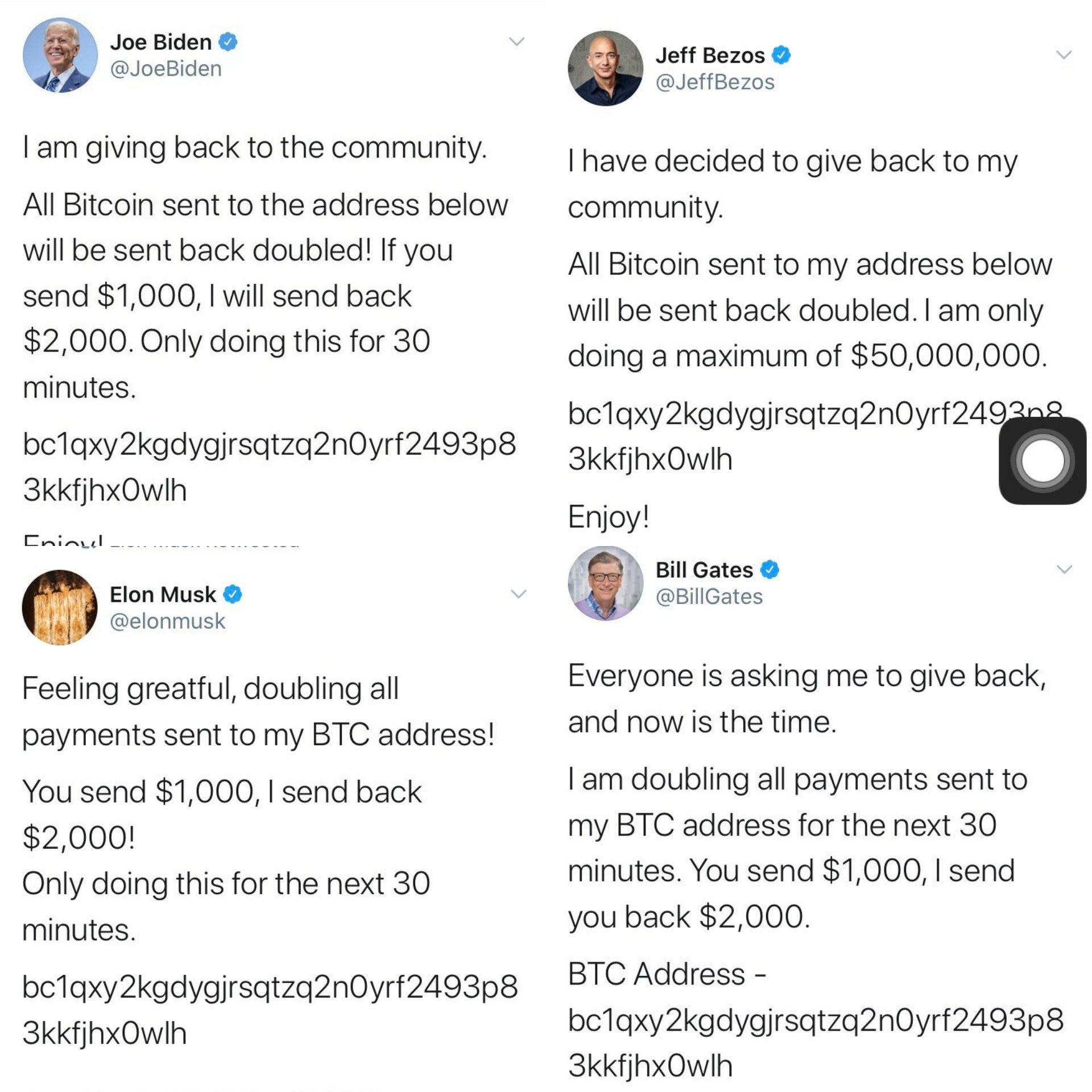 Twitter Hacked Bitcoins