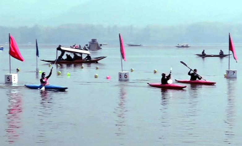 Water sports begin at Dal Lake