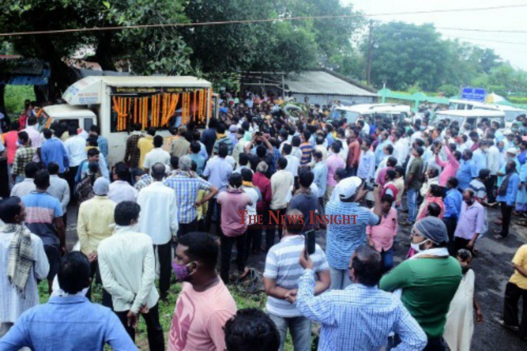 Pradeep Maharathy Cremation