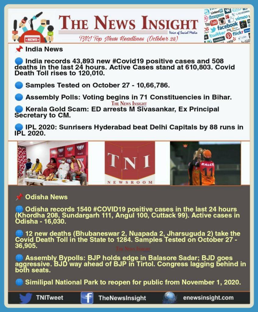 TNI Morning News Headlines – October 28