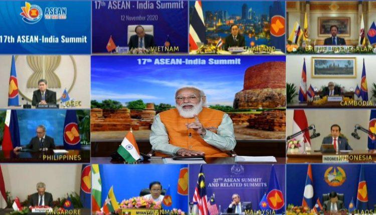 PM Modia at 17th ASEAN-India Summit
