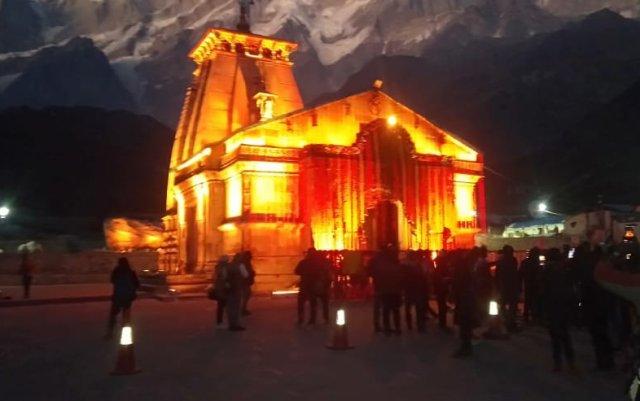 Kedarnath Temple in decorated ahead of Diwali