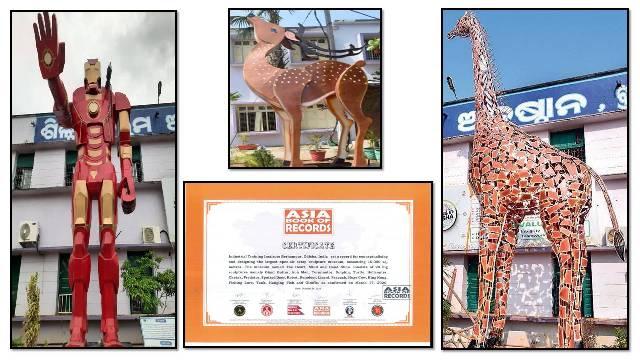 Berhampur ITI sets record for designing largest open-air scrap sculpture museum