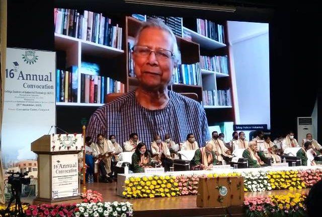 KIIT Holds Virtual Convocation, 7135 Students Awarded Degrees-Yunus