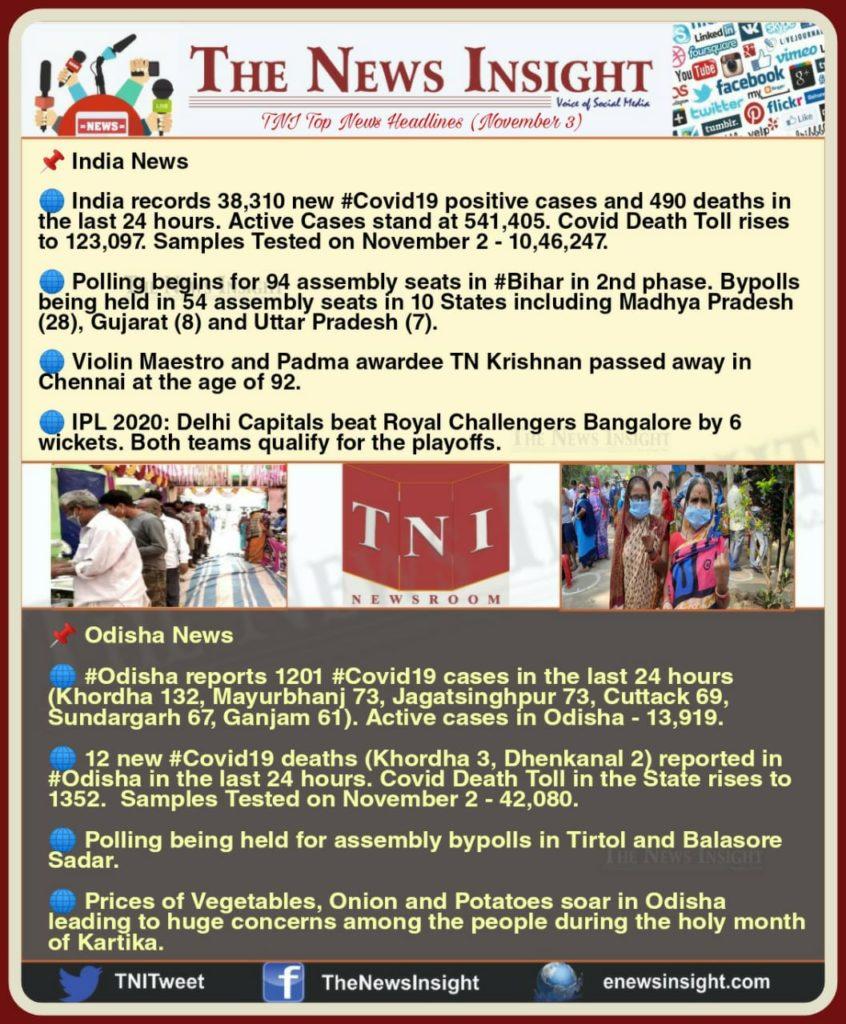 TNI Morning News Headlines – November 3, 2020