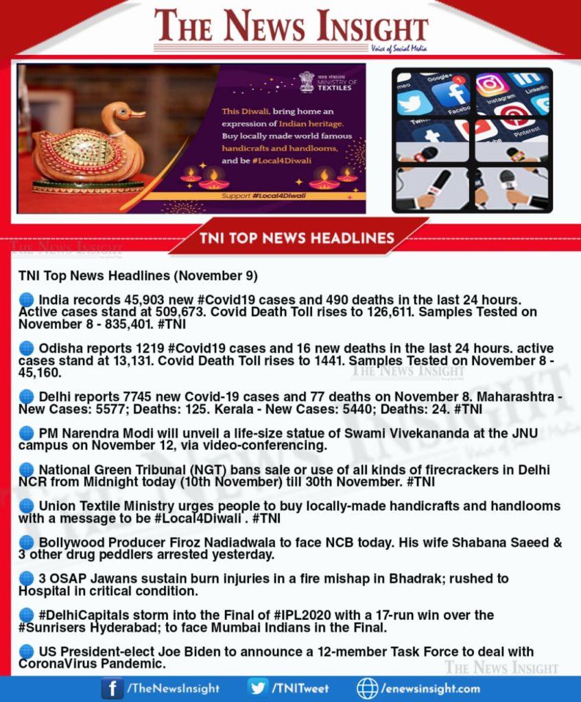 TNI Morning News Headlines – November 9, 2020