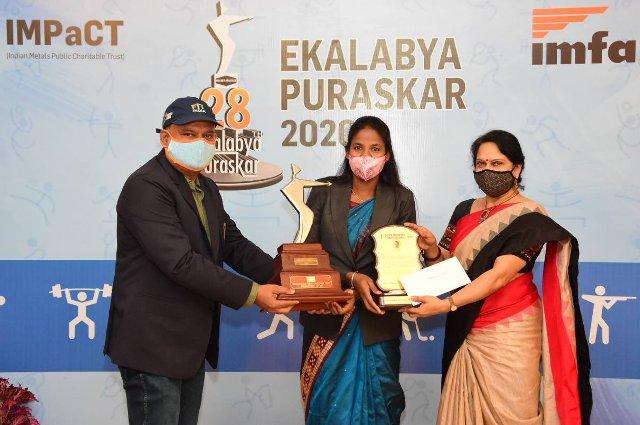 Namita Toppo Rrceives 28th Ekalabya Puraskar