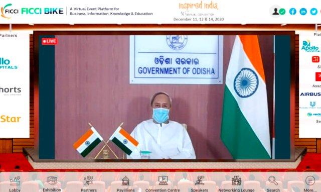 Odisha CM Naveen Patnaik addresses at the 93rd Annual General Meeting of FICCI.