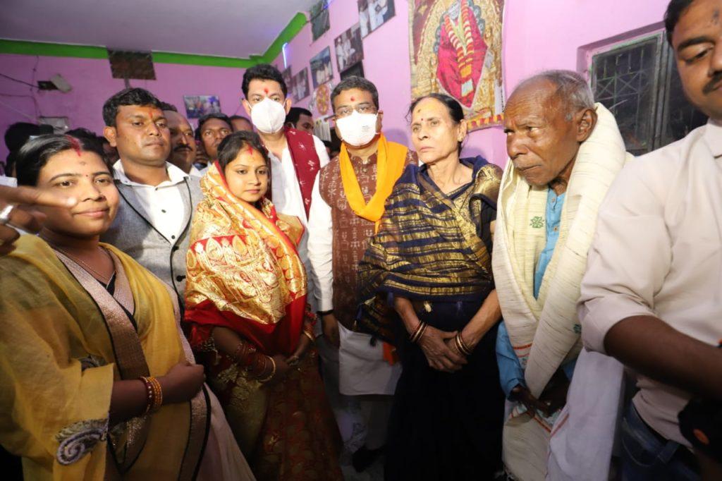 Dharmendra Pradhan meets Surendra Sai's Family
