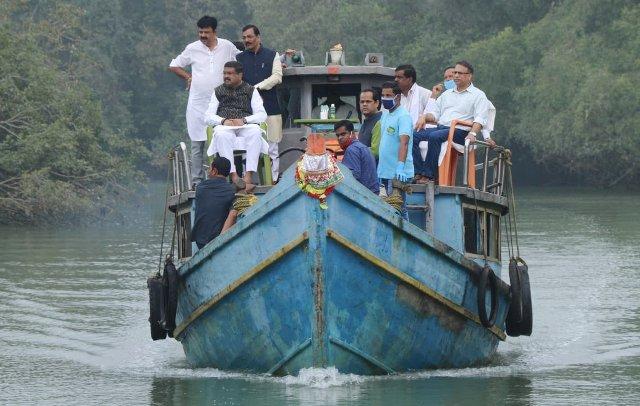 BJP leaders including Dharmendra Pradhan & Lalitendu Bidyadhar Mohapatra visit Bhitarkanika today