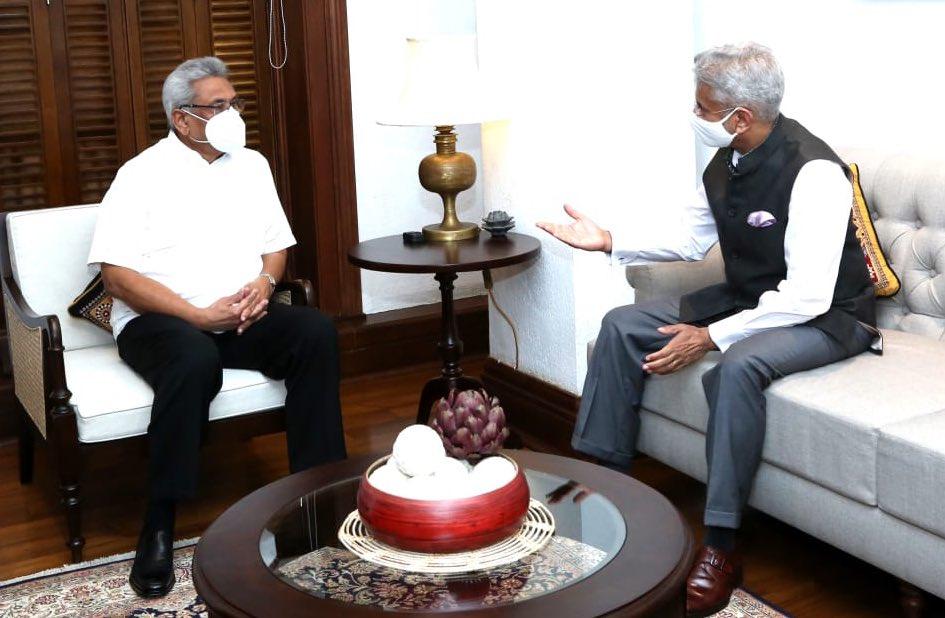 Dr S Jaishankar calls on President of Sri Lanka