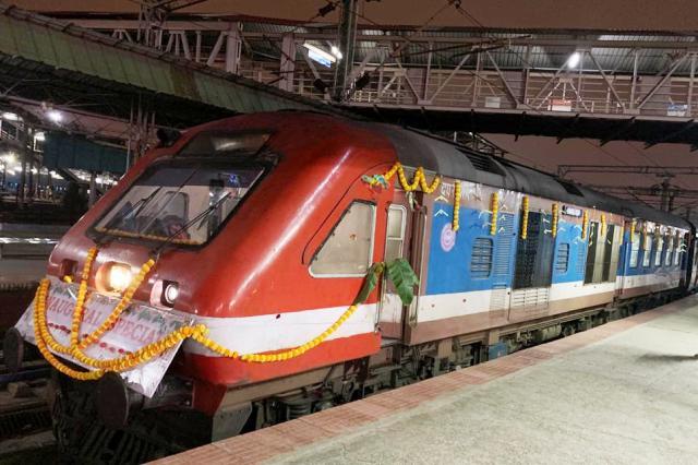 The maiden DEMU train service to the Kempegowda International Airport Bengaluru starts today