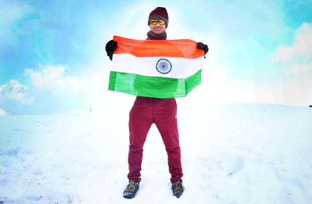 Odia Youth Unfurls National Flag On Himalayas' Dayara Bugyal