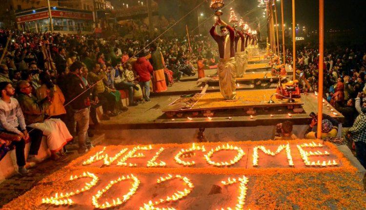 Priests perform 'Ganga Aarti' in Varanasi