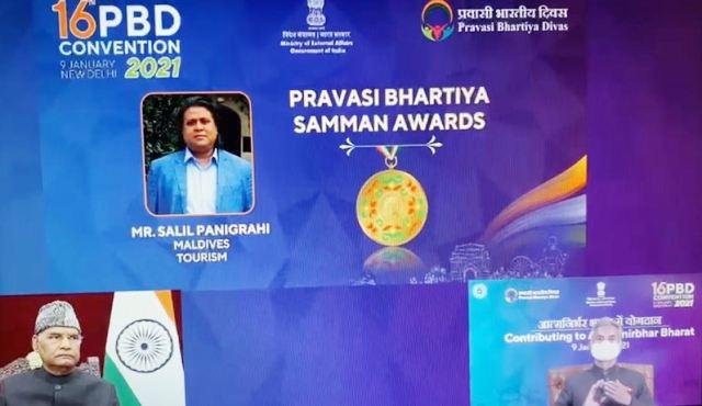 Salil Panigrahi receives Pravasi Bharatitya Samman