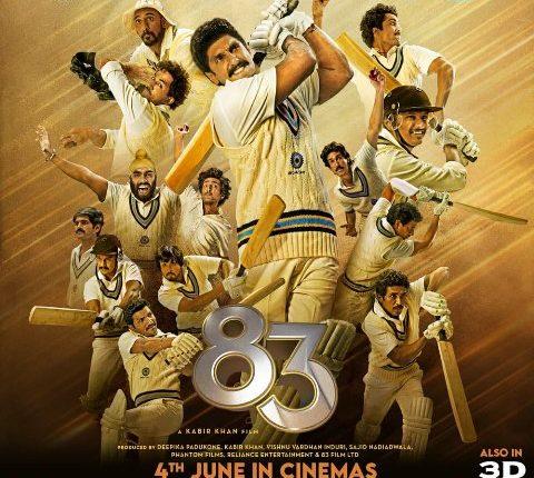 Ranveer Singh-starrer 83 to hit theatres on June 4