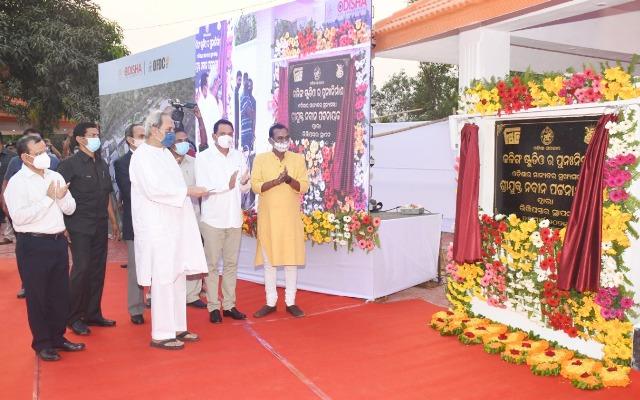 Odisha CM lays foundation for Re-Development of Kalinga Studio