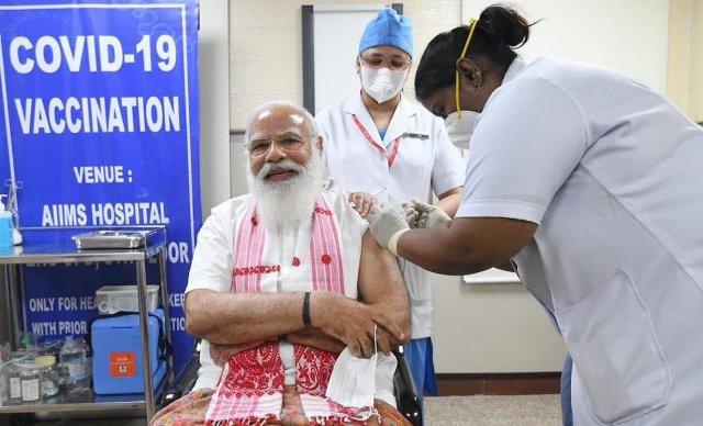 Prime Minister Narendra Modi took his first dose of the COVID 19 vaccine