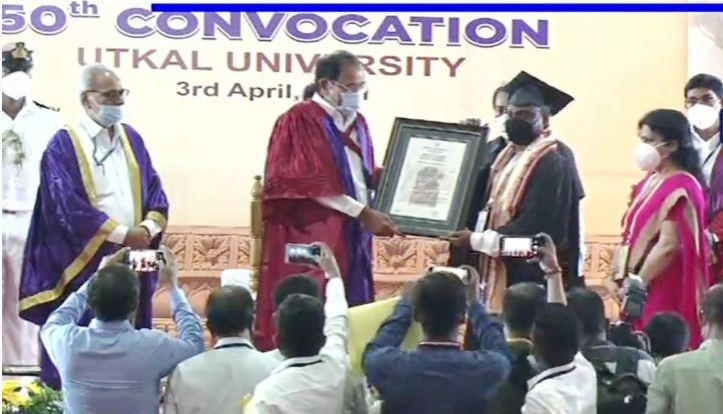 Vice President of India M Venkaiah Naidu attends 50th Convocation of Utkal University in Bhubaneswar