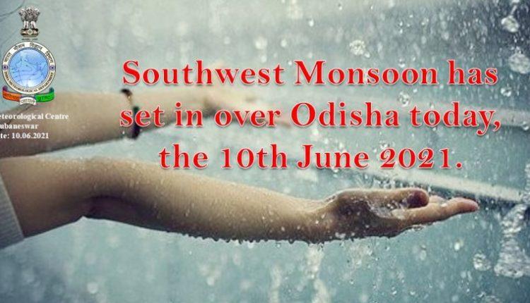Southwest Monsoon has set in over Odisha