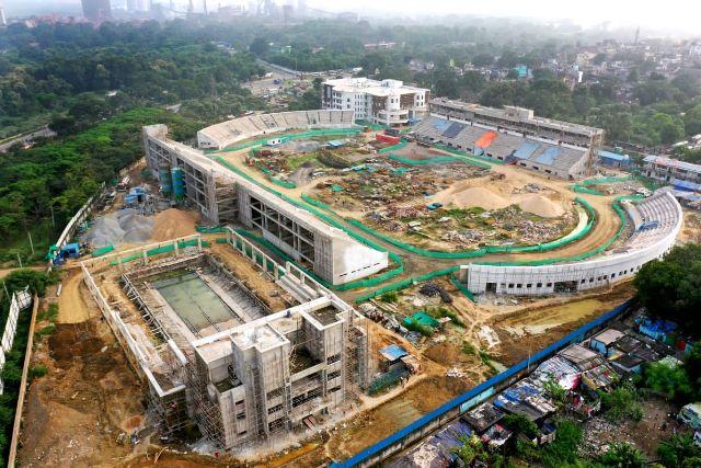 Odisha Chief Secretary Suresh Chandra Mahapatra & Secy to CM (5T) VK Pandian reviewed the construction of 'Birsa Munda International Hockey Stadium, affordable housing project, under-construction science park and planetarium in Chhend & Biju Patnaik Indoor Stadium in Rourkela.