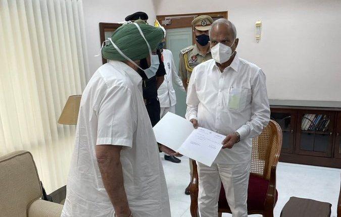 Captain Amarinder Singh resigns as Punjab Chief Minister