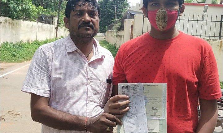 Divyang Student Bhubaneswar Odisha Ashirbad Bastia