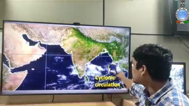 Cyclonic Storm approaching Odisha Coast